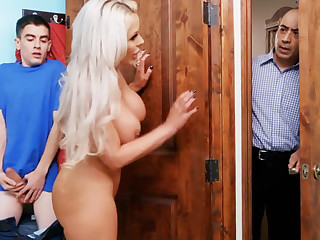Hot step mom ride stepson's big dick
