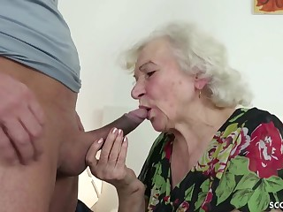 GERMAN ORDERLY CAUGHT GRANNIE JERK AND Provoke WITH POKE