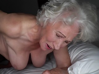 Grey-haired cunt of fat granny gets pounded overwrought young stud
