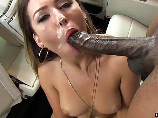 Melisa shattered not far from heavy black cock hardcore doggystyle