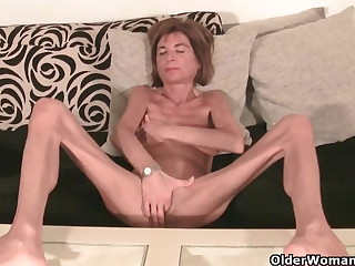 Not roundabout wasting away granny strips off and masturbates (compilation)