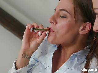 Hardcore anal FFM threesome with Eveline Dellai and Silvia Dellai