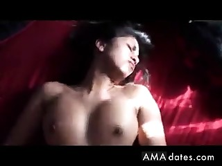 Hot Indian girl rides then gets it on her back!