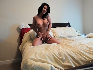 Sweet solo anal toying with hot beauteous milf