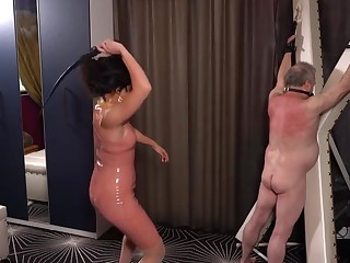 Latex Governess abuses Her Rallying Boy ft/ Floss Lucy Khan