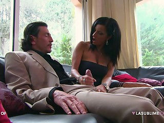 Brunette sweetheart Priscilla Salerno enjoys having hardcore sex