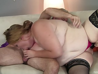 A pleasant time with the chubby ass slut after she sucks dick hard