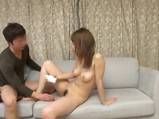 Japanese doll relative to a sexy trimmed pussy gets taken unending