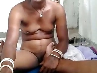 Ugly titless Desi whore kinda flashes the brush undressed body