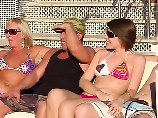 Romantic swinger orgy all over swapped unpaid couples.