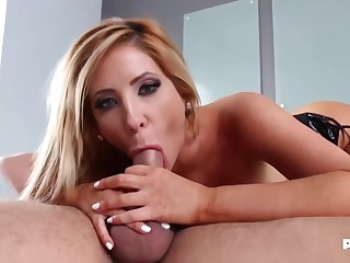Amazing, blonde woman in a latex bra, Tasha Reign got fucked in someone's skin ass, ameliorate than ever