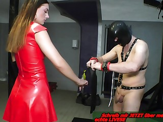Double anal fisting from german bdsm femdom