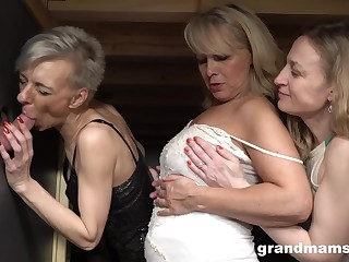 Three horny grannies sex border