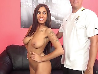 Awesome copulation scene with respect to busty nurse Stacy Jay riding like a pro