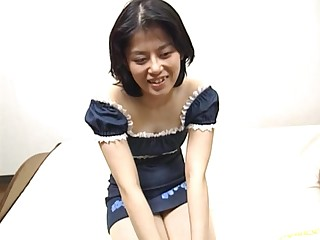Amateur wife Miku spreads her legs nearby be fucked apart from her hubby