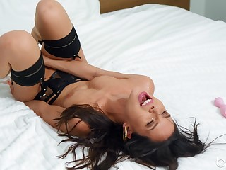 Peculiar just model Milana Ricci enjoys playing with sex toys