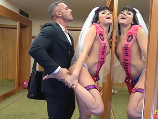 Bride to be gets laid apart from the best man in a crazy XXX play