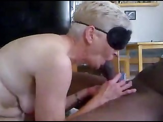 Horny granny anal fucked by bbc acquire creampie