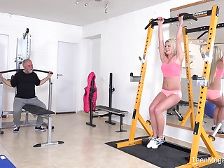Dirty old dude starkers and fucked adorable blonde Martina D