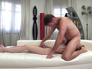 Teen old bag banged by man's serious horseshit in full POV anal