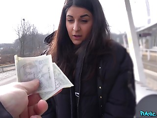 Money sex leads European teen to infatuated POV