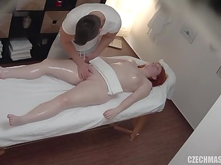Hot massage with spying cam turned into fuck