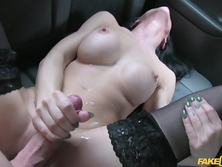 Hot brunette Sophie Garcia enjoyed an epic, notwithstanding that slutty, cab ride