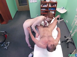 Amateur recorded relative to secret when role the doctor's penis
