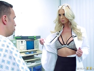 Designing time this female doctor gets laid involving two of her patients