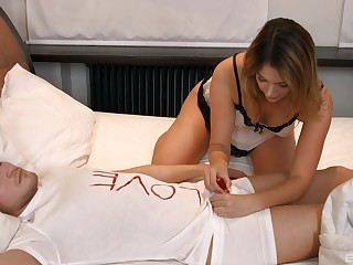 cock sucking wet-nurse adore in the lead to a smashing fuck