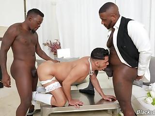 Unconcerned wedding day threeway with Avatar Akiya, Cesar Xes and Micah Martinez