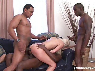 Blondie suits several BBCs all round each be expeditious for her holes